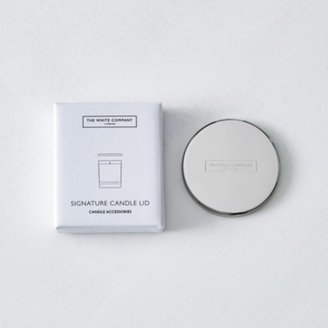 The White Company 2-wick Lid, Silver, One Size