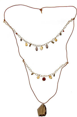 MINU Jewels Extra Long Smoky Quartz Pendant Necklace