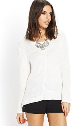 LOVE21 LOVE 21 Front and Center Seam Sweater