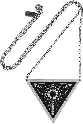 Pamela Love Zelhij silver-tone and maple triangle necklace