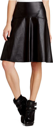BCBGMAXAZRIA Skirt, Faux-Leather A-Line