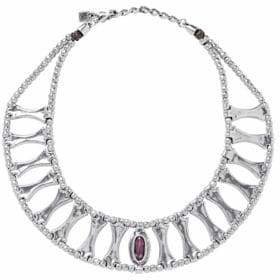Uno de 50 Swarovski Crystal and Silver Guardian Necklace