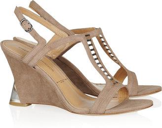 Sigerson Morrison Dynn suede wedge sandals