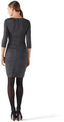 White House Black Market Instantly Slimming Dress Gray Shimmer