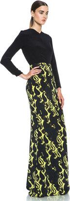 Jenni Kayne Slit Back Silk Gown in Multi