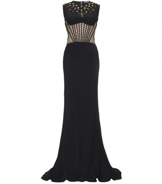 Alexander McQueen EMBELLISHED FLOOR-LENGTH GOWN