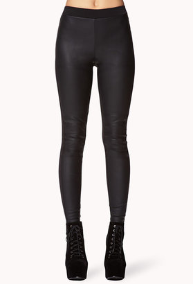 Forever 21 Faux Leather Paneled Leggings
