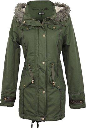 Brave Soul Women's LJK Allure Zipped Jacket Size 14