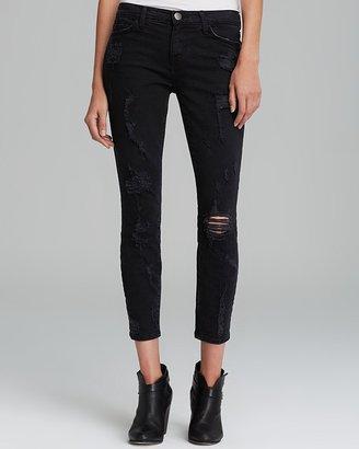 Current/Elliott Jeans - The Stiletto in Shredded Black