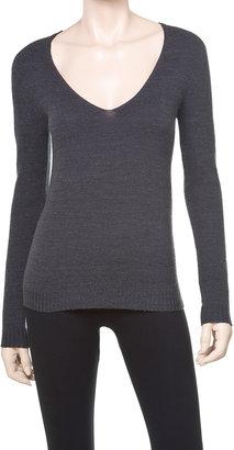 Max Studio Stretch Crepe V-Neck Sweater