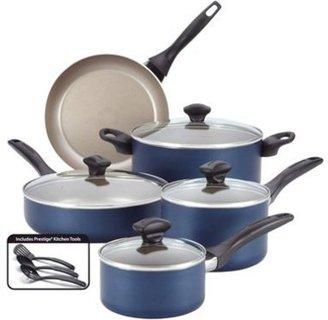 Farberware 12-pc. Nonstick Dishwasher Safe Nonstick Cookware Set, Blue