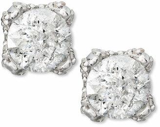 Macy's Diamond Stud Earrings in 14k White Gold (1 ct. t.w)