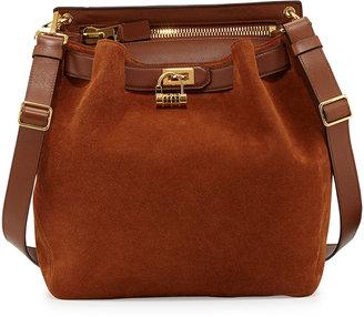 Tom Ford Lock-Front Sling Bag, Camel