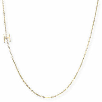 Maya Brenner Designs 14k Yellow Gold Mini Letter Necklace $240 thestylecure.com