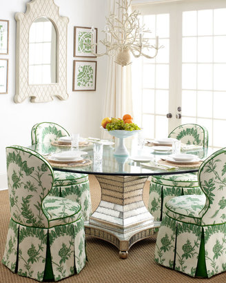 Horchow Erlinda Dining Table & Garden Dining Chair