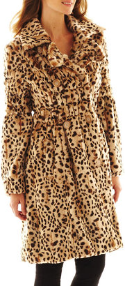 Excelled Leather Excelled Faux-Fur Swing Coat $275 thestylecure.com