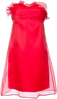 Roberta Furlanetto ruched strapless dress