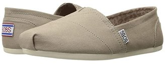 BOBS from SKECHERS Bobs Plush - Peace and Love (Taupe) Women's Shoes