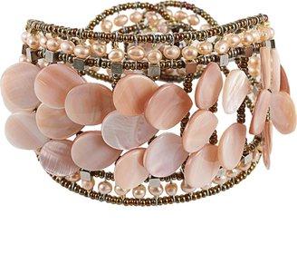 Ziio Freshwater Pearl and Nacre Bracelet
