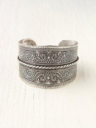 Free People Silver Twist Detail Cuff
