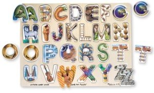 Melissa & Doug Kids Toy, Alphabet Art Puzzle