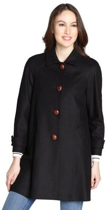 RED Valentino black braided button detail wool coat