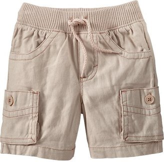 Old Navy Rib-Waist Linen-Blend Cargo Shorts for Baby