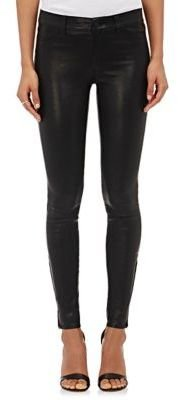J Brand Women's Leather Skinny Pants-BLACK $998 thestylecure.com