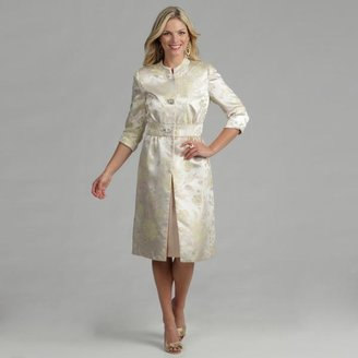 Issue New York Women's 2-piece Cream Dress and Jacquard Coat $94.99 thestylecure.com