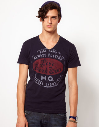 Diesel T-Shirt With Stamp Print