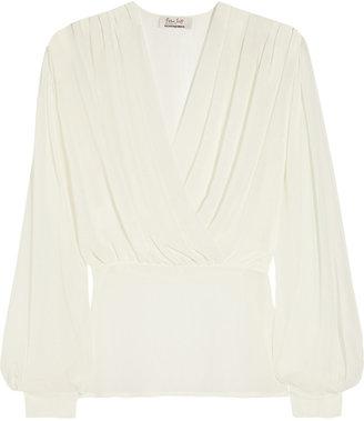 L'Wren Scott Chiffon wrap-effect blouse