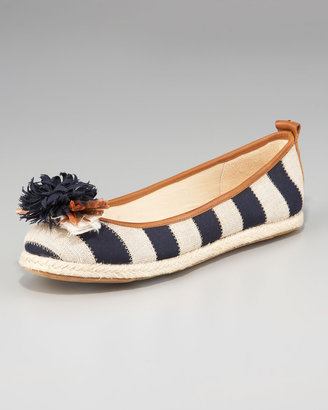 Juicy Couture Gianna Striped Espadrille Ballet Flat