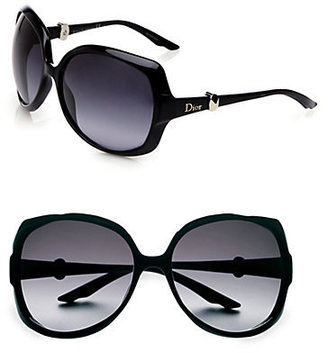 Christian Dior Metal Accented Oversized Sunglasses