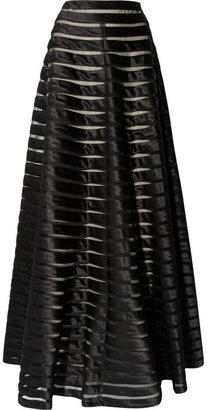 Temperley London Satin and tulle maxi skirt