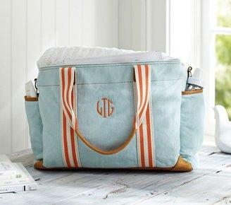 Pottery Barn Kids Aqua Classic Mom Diaper Bag