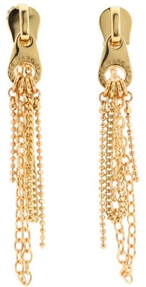 Marc by Marc Jacobs Love Edge Zip Pull Draped Earrings