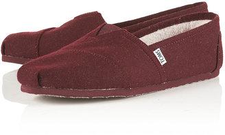 "Topman Toms ""Woolen"" Classic Slip On Slippers"