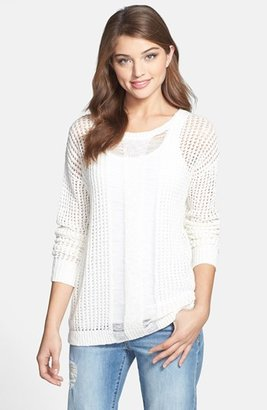 Vince Camuto Two by Open Stitch Crinkled Yarn Sweater