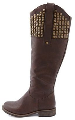 Charlotte Russe Pyramid Stud Riding Boot