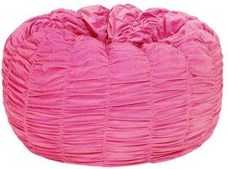 PBteen Pink Ruched Velvet Beanbag