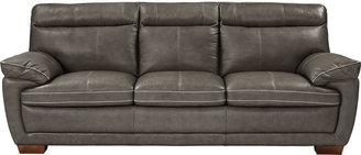 Cindy Crawford Home Casa Moderna Gray Leather Sofa
