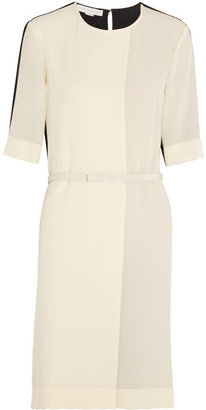 Stella McCartney Lisette folded two-tone silk crepe de chine dress