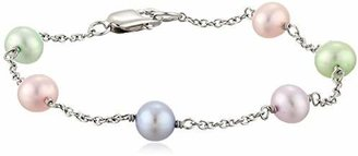 "Honora Girls"" Freshwater Cultured Pearl and Chain Bracelet"