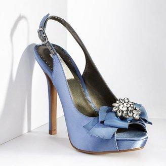 Vera Wang Simply vera bow peep-toe high heels - women
