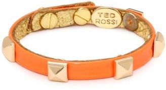 "Ted Rossi Extreme Neon"" Neon Patent Pyramid Mini Cuff Bracelet"