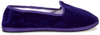 Capulette Venetian Purple Velvet Slippers