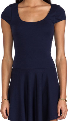 Alice + Olivia Rylie Fit and Flare Short Sleeve Dress
