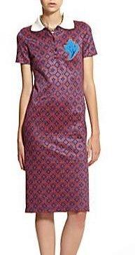 Ostwald Helgason Purple/red Optic Collar Dress