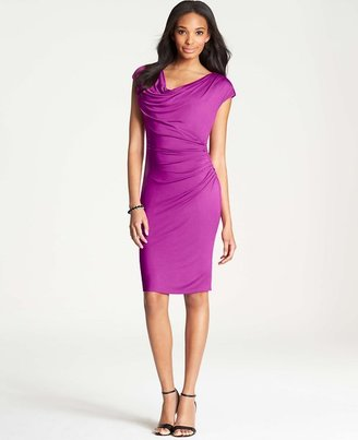 Ann Taylor Side Ruched Jersey Dress