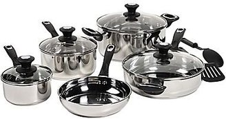JCPenney BellaTM 11-pc. Stainless Steel Cookware Set